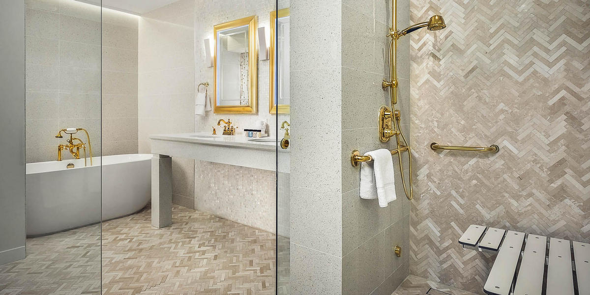 ADA Penthouse Suite Master Bathroom